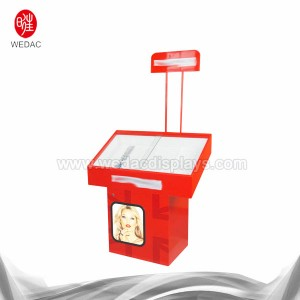 wooden cosmetic display unit